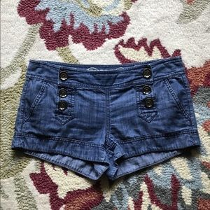 Express shorts size 2 inseam 2 inches.